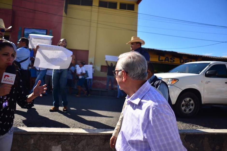 El presidente criticó a los manifestantes que en Guastatoya se pronunciaron contra el salario diferenciado. (Foto: Jesús Alfonso/Soy502)