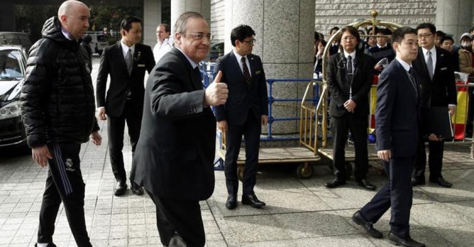 Florentino Pérez, presidente del Real Madrid, es acusado de participar en una fiesta con prostitutas. (Foto: Twitter)