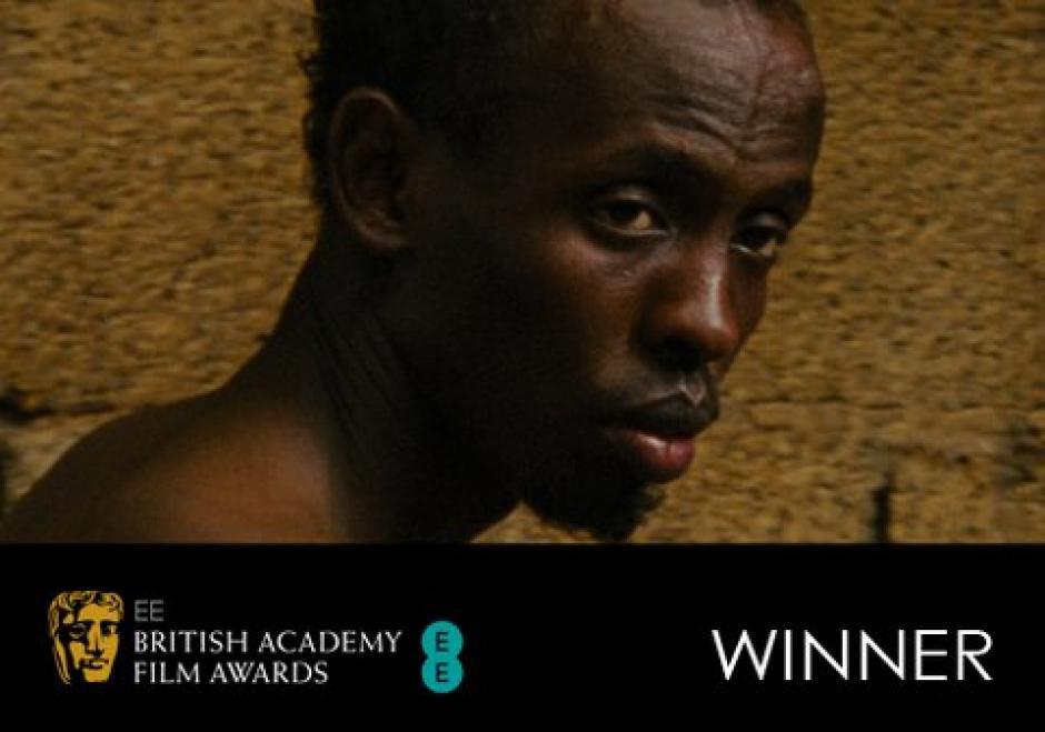 """El premio Bafta al """"mejor actor secundario"""" fue Barkhad Abdi por la película """"Captain Phillips"""". Foto AFP"""