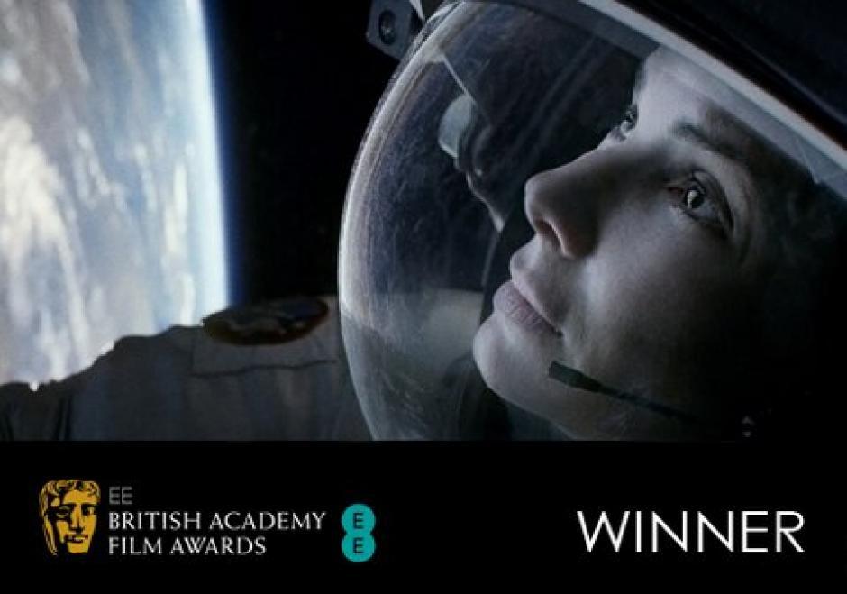 """""""Gravity"""" fue galardonada con el Bafta a """"mejor película británica"""". Foto AFP"""