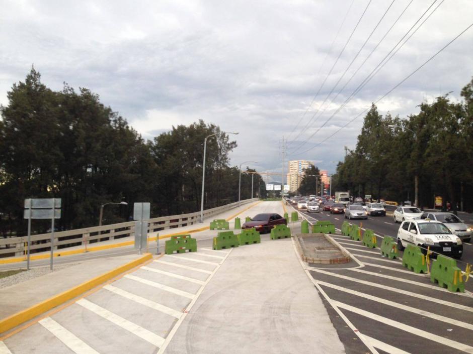 El nuevo puente fue construido desde el acceso a Majadas. (Foto: Álvaro Rodas/MuniGuate)