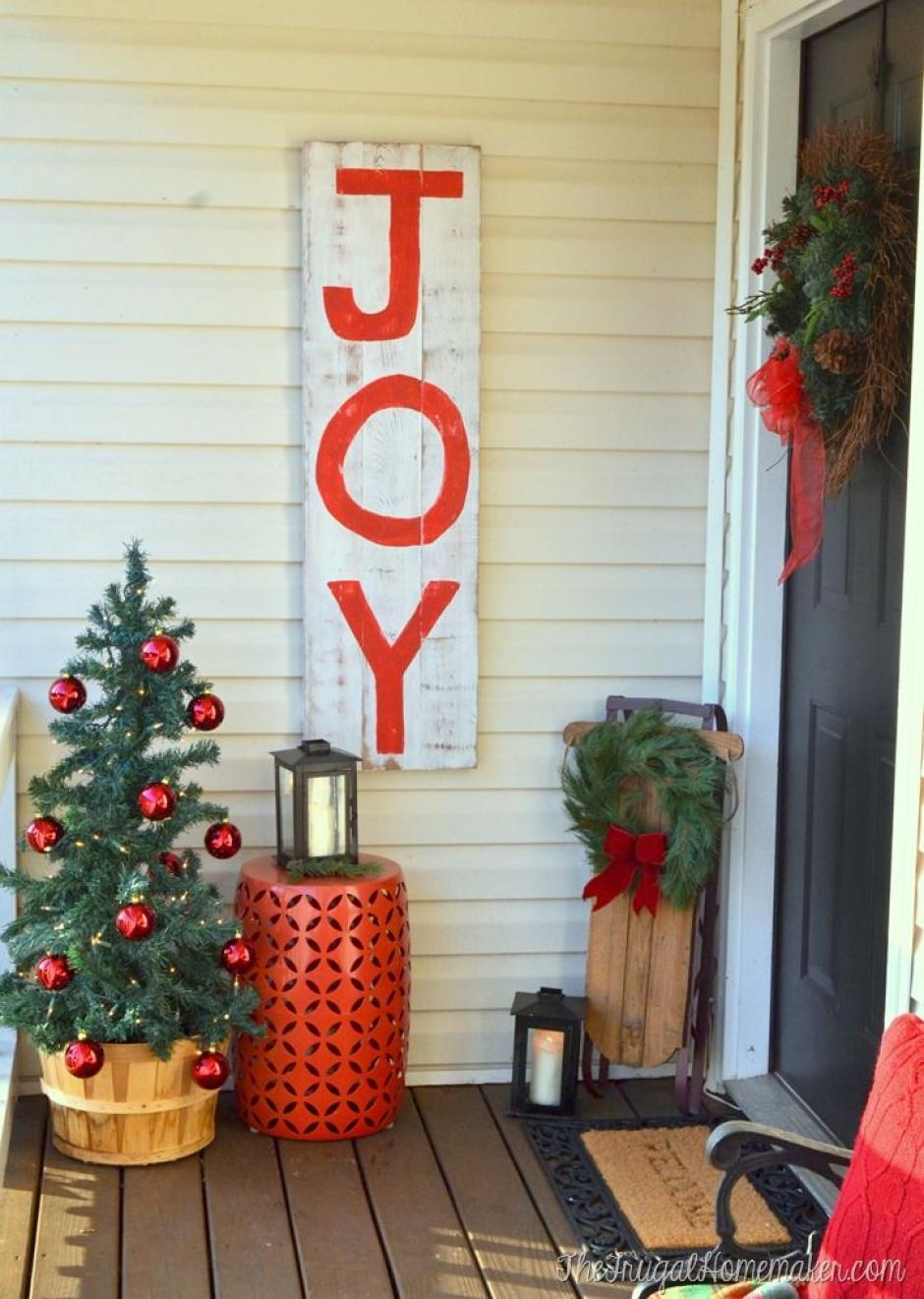 Una original decoracin navidea en la puerta de tu casa Soy502