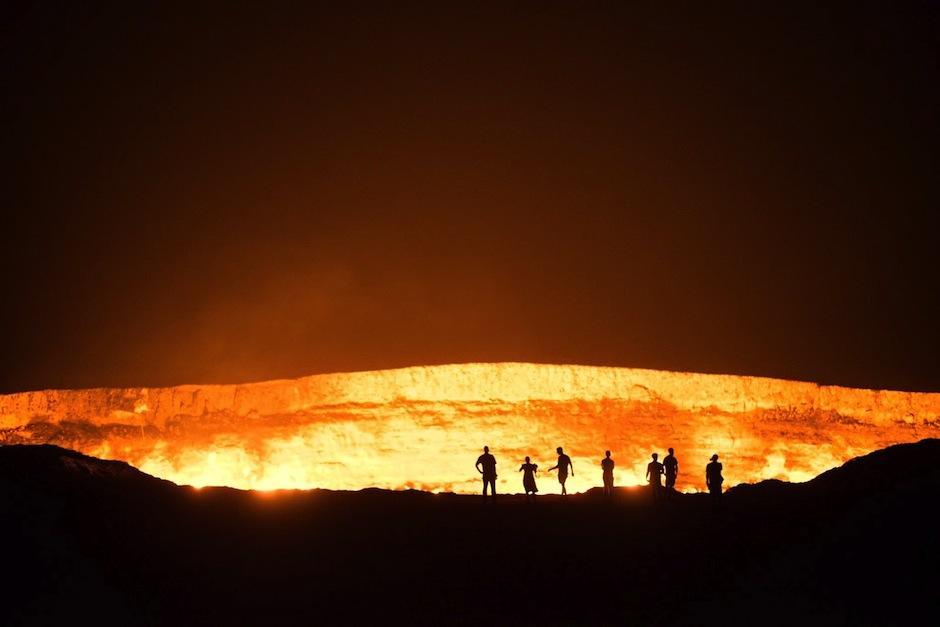 """Esta es la """"Puerta del infierno"""", ubicada en el desierto de Karakum. (Foto: blog,enodius.com)"""