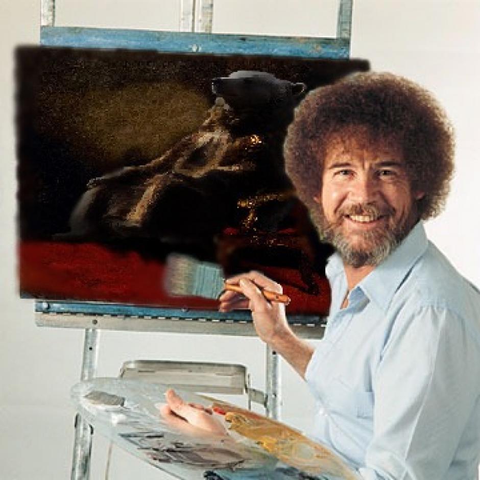 Un cuadro pintado a mano del oso. (Foto: reddit.com)