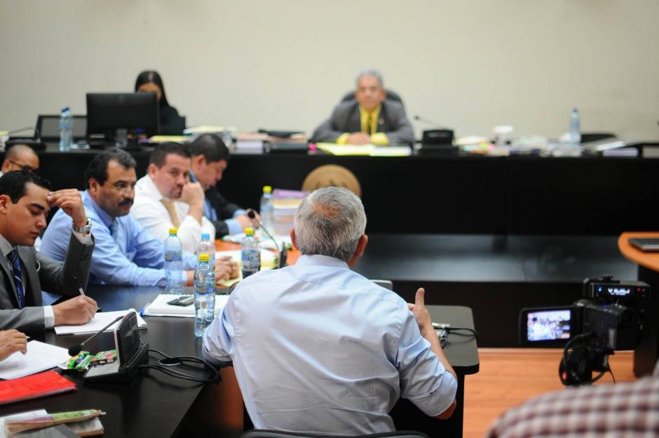 El expresidente de Guatemala, Otto Pérez Molina, ofreció su declaración. (Foto: Alejandro Balan/Soy502)