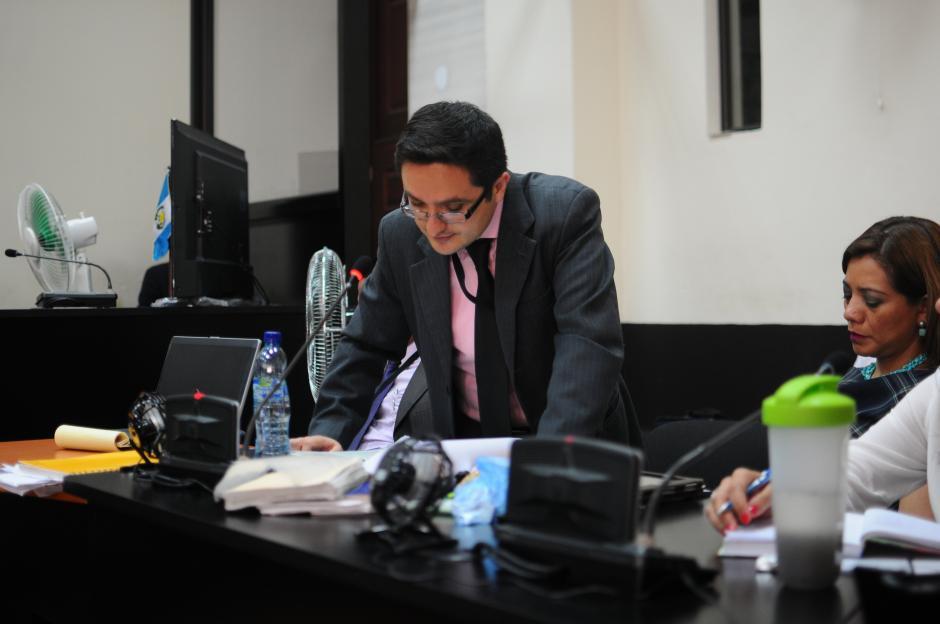 El fiscal del MP, Juan Francisco Sandoval imputó los delitos. (Foto: Alejandro Balán/Soy502)