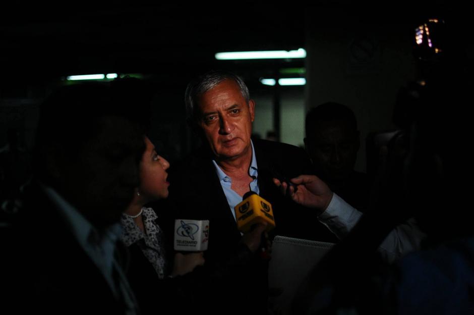 Ingreso a Torre de Tribunales del expresidente Otto Pérez Molina. (Foto: Alejandro Balán/Soy502)
