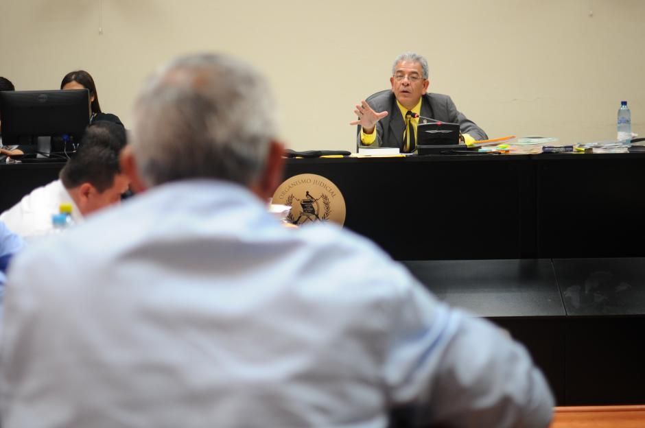 Pérez Molina apeló a la buena voluntad del juez con su declaración. (Foto: Alejandro Balán/Soy502)