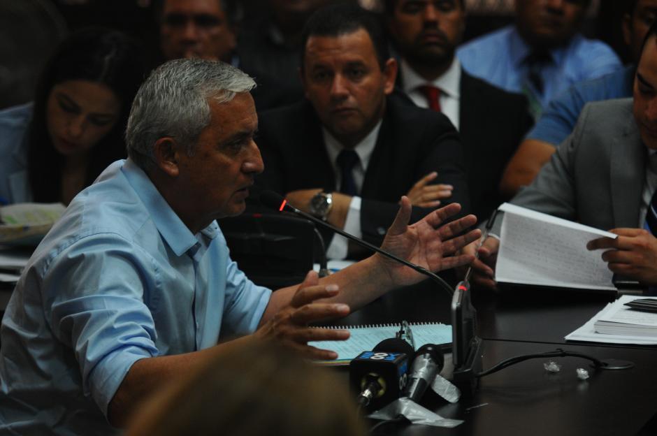El expresidente Otto Pérez Molina declaró durante la audiencia. (Foto: Alejandro Balán/Soy502)