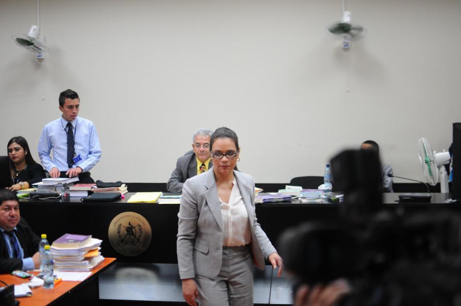 La exvicepresidenta Roxana Baldetti no prestó declaración durante el día. (Foto: Alejandro Balán/Soy502)