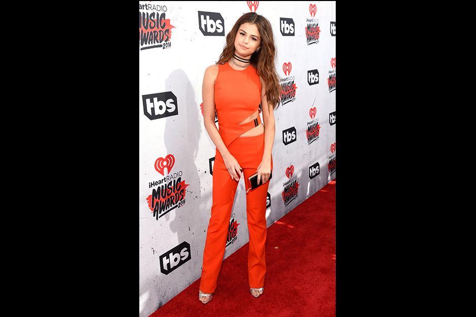 Selena Gómez en los iHeart Radio. (Foto: Eonline)