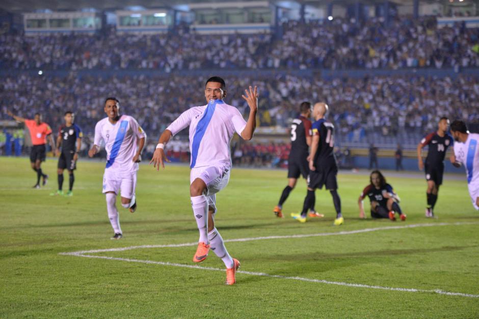 """""""Rafa"""" Morales anotó su primer gol con una Selección mayor de Guatemala. (Foto: Wilder López/Soy502)"""