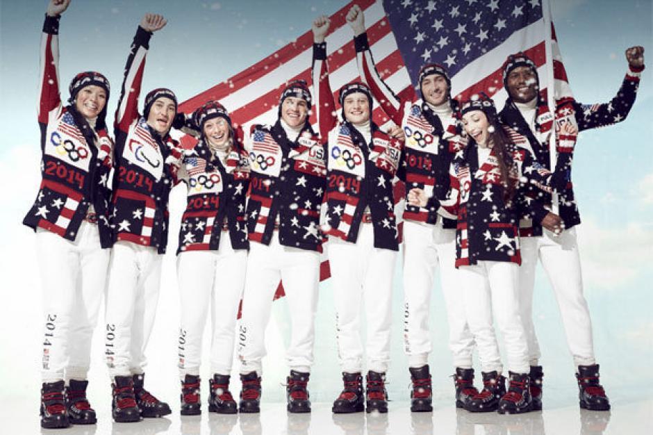 El uniforme de la delegación de Estados Unidos para la inauguración de los Juegos Olímpicos de Invierno fue diseñado por la marca Ralph Lauren. Foto Jian De León/GQ