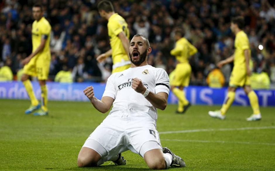 Benzema celebra su anotación durante el primer tiempo. (Foto: cubadebate.com)