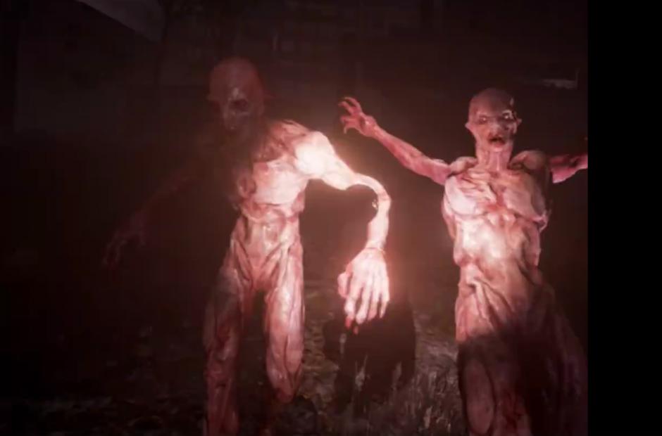 Por medio del casco mira muchos zombies que lo atacan. (Captura de pantalla: VRScout/Facebook)