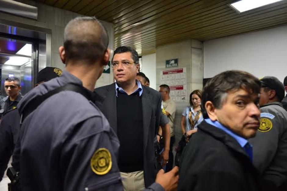 Gustavo Martínez fue trasladado del Preventivo de la zona 18 a la Torre de Tribunales. (Foto: Wilder López/Soy502)