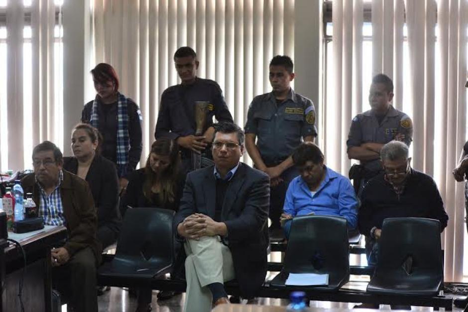 Algunos de los acusados en el caso #Redes durante la audiencia. (Foto: Wilder López/Soy502)