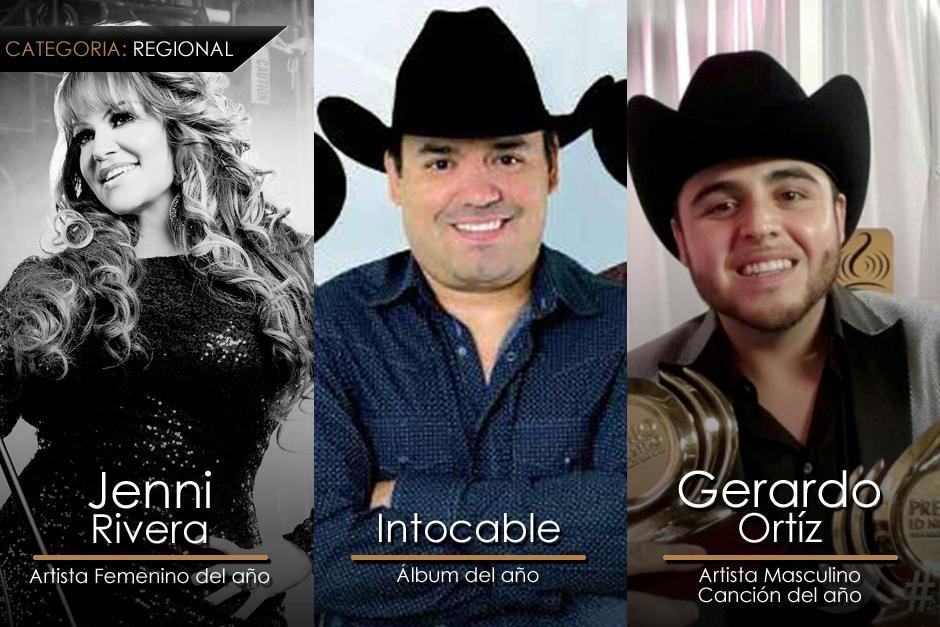 Estos son los ganadores más destacados de la categoría Regional en los Premios Lo Nuestro. (Imagen: Gerardo Calderón/Soy205)