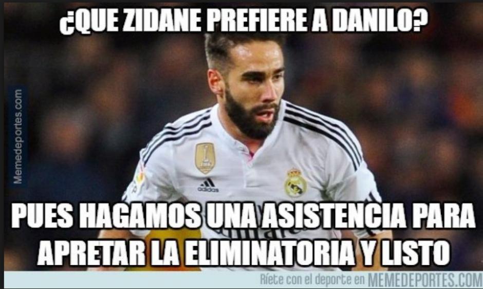 Varios hicieron hincapié en el cambio entre tener a Danilo y tener a Carvajal en el once. (Foto: memedeportes.com)