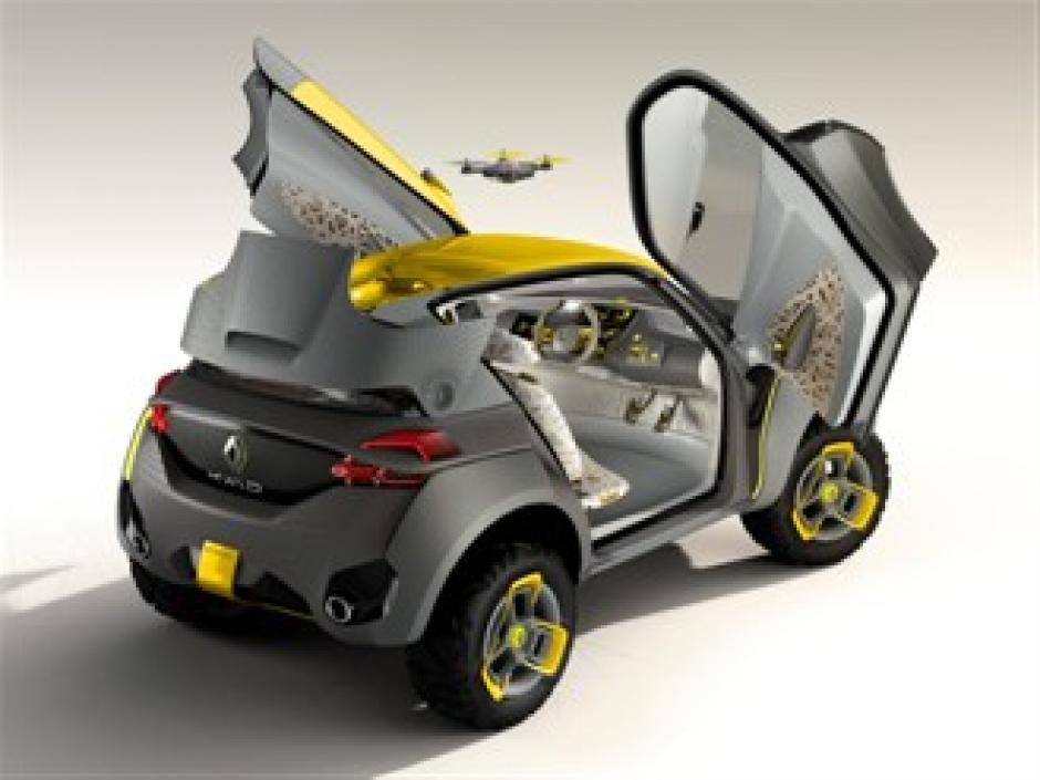 El pequeño dron del Kwid va en la parte trasera del vehículo de Renault. (Foto: Renault.com)