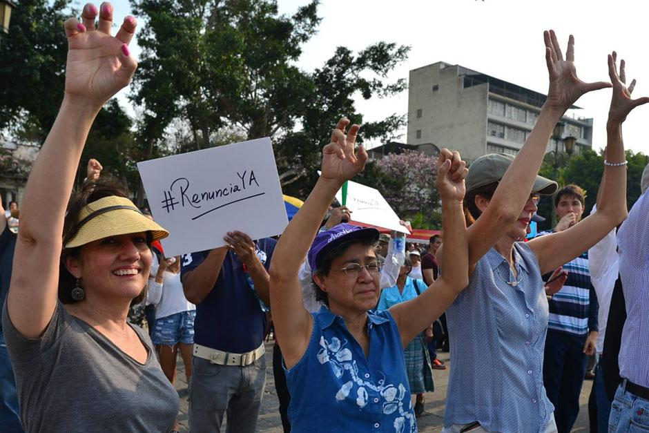 #RenunciaYA decían los manifestantes el sábado. (Foto: Wilder López/Soy502)