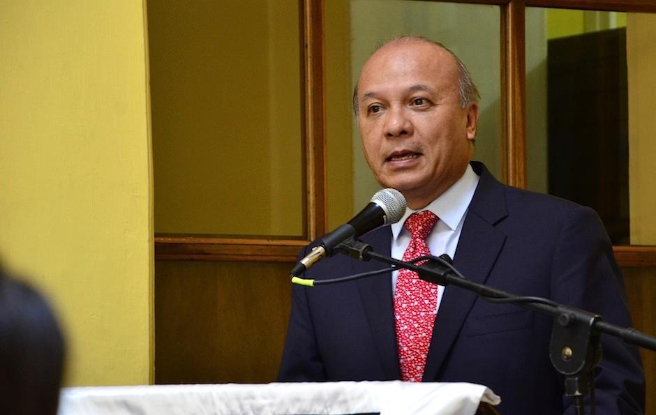 José Luis Chea Urruela, mInistro de Cultura y Deportes agradece el apoyo a este proyecto. (Foto: Selene Mejía/Soy502)