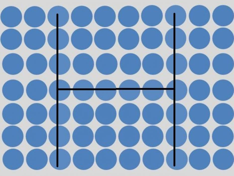 En medio del reto aparece la letra H. (Imagen: playbuzz)