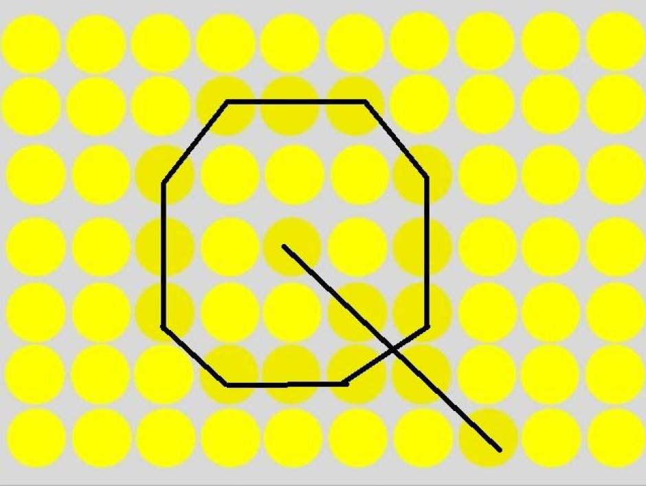 Los círculos amarillos son los cómplices de la letra Q, que se esconde entre ellos. (Imagen: playbuzz)