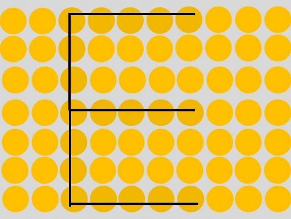 Una letra E, se esconde entre los círculos amarillos. (Imagen: playbuzz)
