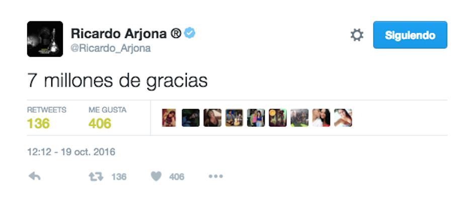 Su cuenta ha llegado a los 7 millones de seguidores. (Foto: Twitter)