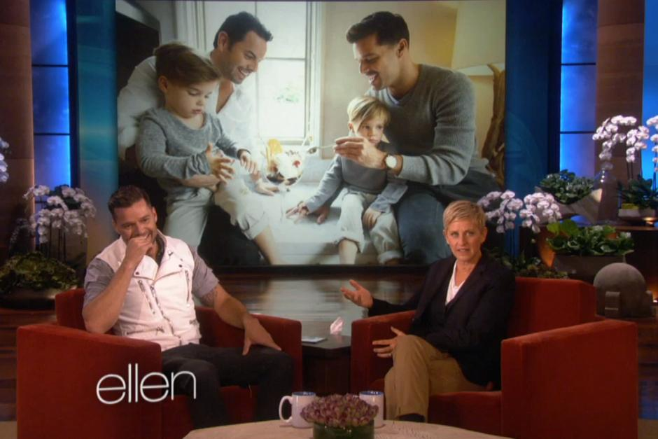 Ricky Martin visitó el programa de Hellen