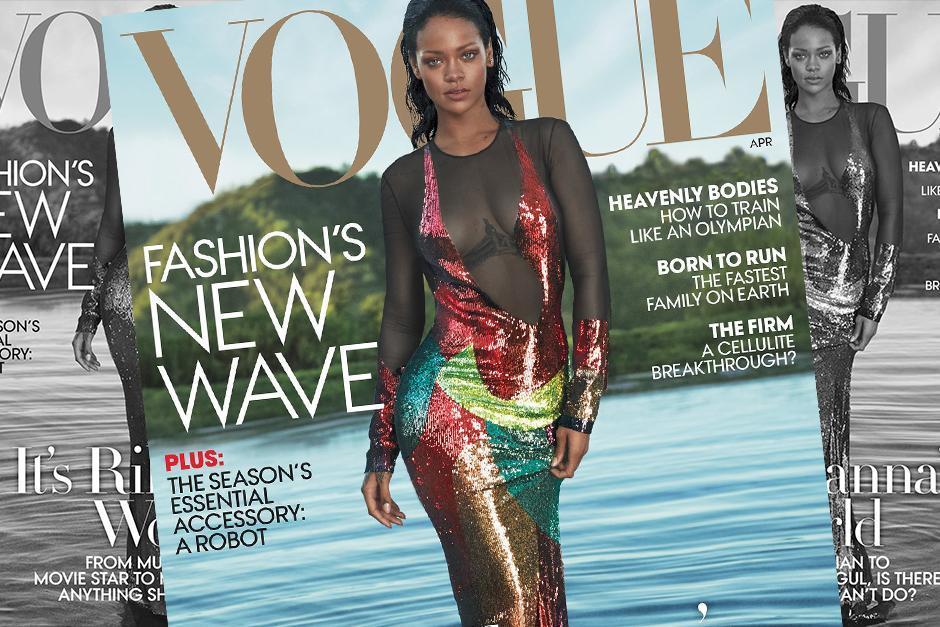 Rihanna estará en la portada de la edición de abril de la revista Vogue. (Foto: Vogue)