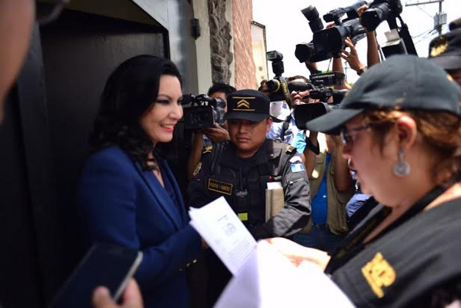 La hija de Efraín Ríos Montt, Zury Ríos, ya había firmado las notificaciones del MP para el traslado al Federico Mora. (Foto: Jesús Alfonso/Soy502)