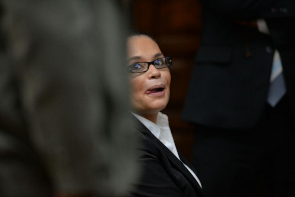 Roxana Baldetti antes del inicio de la audiencia en el caso. (Foto: Wilder López/Soy502)