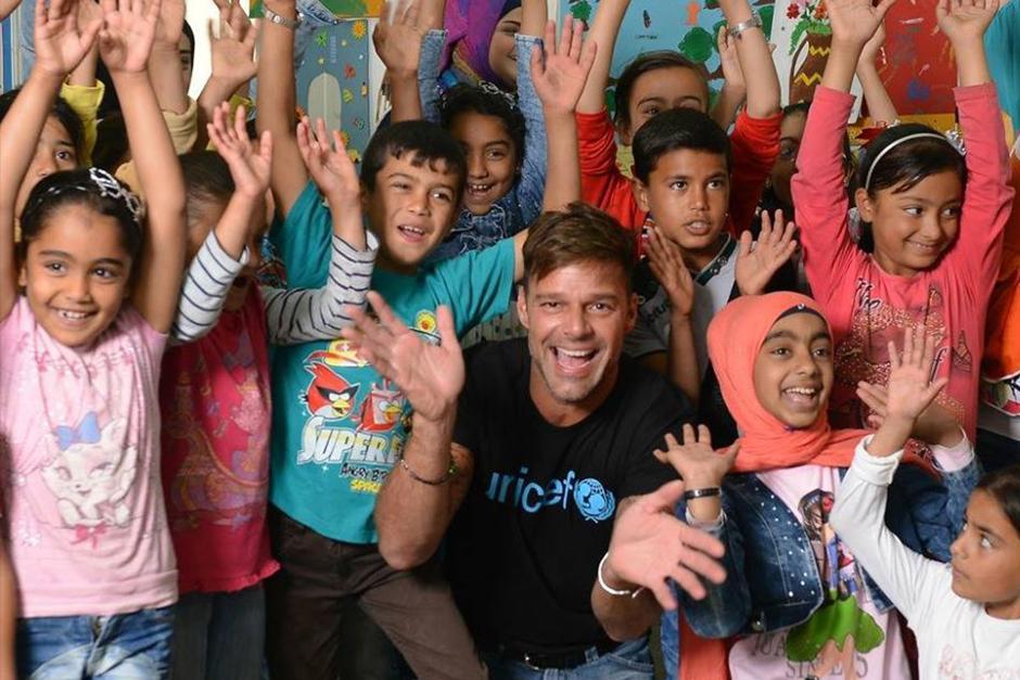 Ricky Martin es embajador de buena voluntad de UNICEF desde 2003. (Foto: Instagram)
