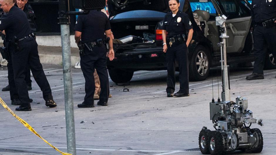 El robot habría detonado un artefacto explosivo para matar al francotirador. (Foto: RT en español)