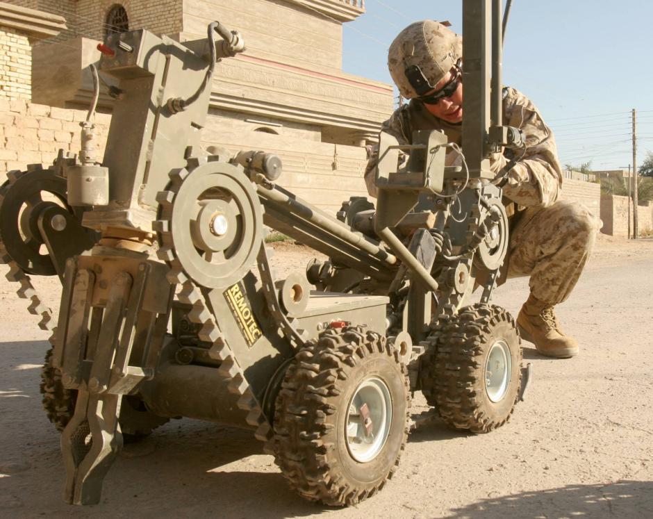 Estos robots son utilizados en Irak y Afganistán. (Foto: El País)