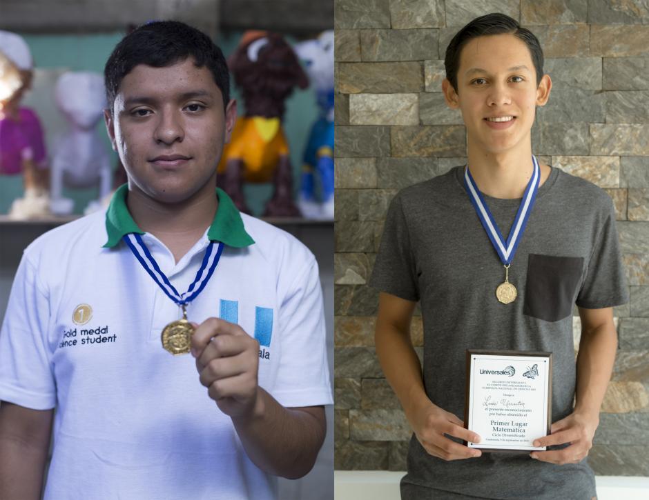 Walter Aragón y Rodrigo Urrutia, dos jóvenes guatemaltecos brillantes que buscan superarse y lograr sus metas académicas. (Foto: Soy502).