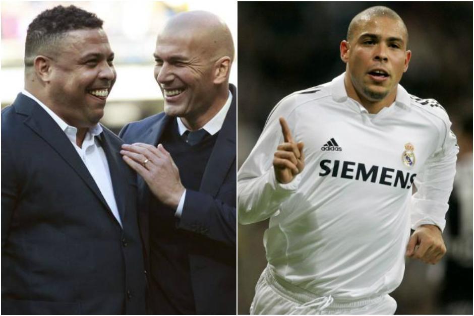 Ronaldo volvió al césped del Bernabéu y fue recibido por excompañeros. (Foto: Marca)