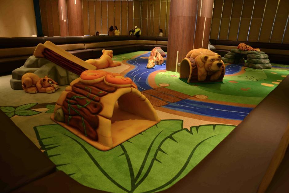 El Softplay, un área dedica a los niños está casi finalizada. (Foto: Jesús Alfonso / Soy502)