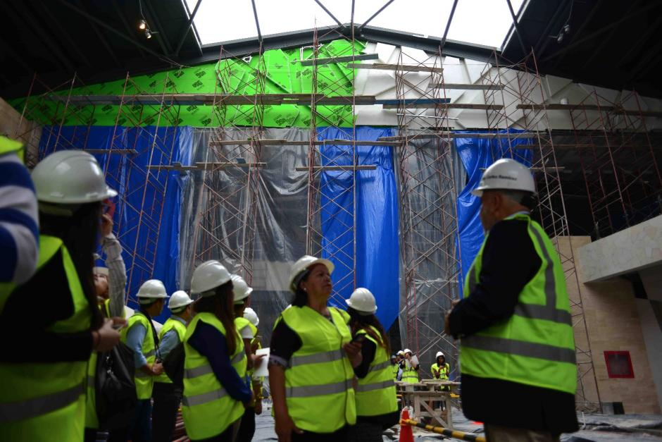 En el recorrido se pudo apreciar los avances de la construcción. (Foto: Jesús Alfonso / Soy502)