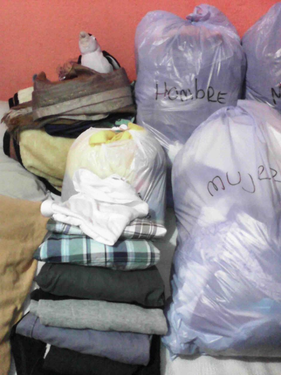 El viernes por la tarde las prendas que se reunan serán distribuidas.