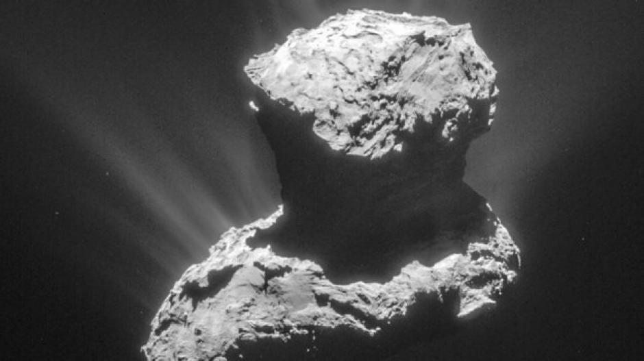 Investigadores ha descubierto ingredientes considerados clave para el origen de la vida terrestre en el cometa 67/P. (Foto: ESA)