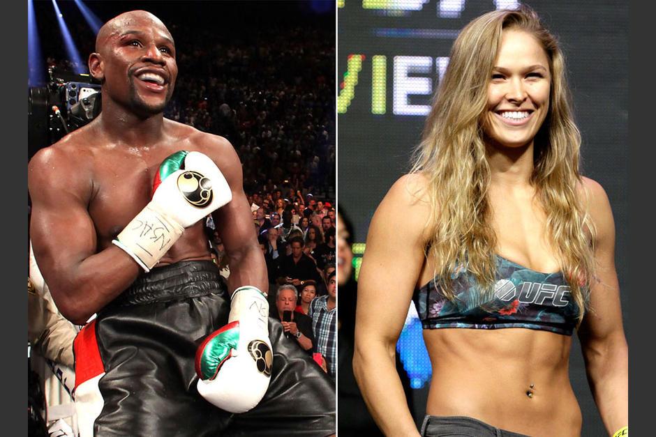 """Ronda Rousey lanzó indirectas a Mayweather y este la retó llamándola """"hombre"""""""