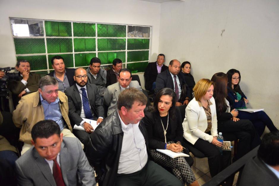 Vista de todos los acusados por el Caso Lago de Amatitlán. (Foto: Jesús Alfonso/Soy502)