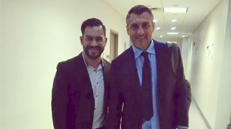 Carlos Ruiz y Christian Vieri coincidieron en las oficinas de beIN Sports. (Foto: Twitter)