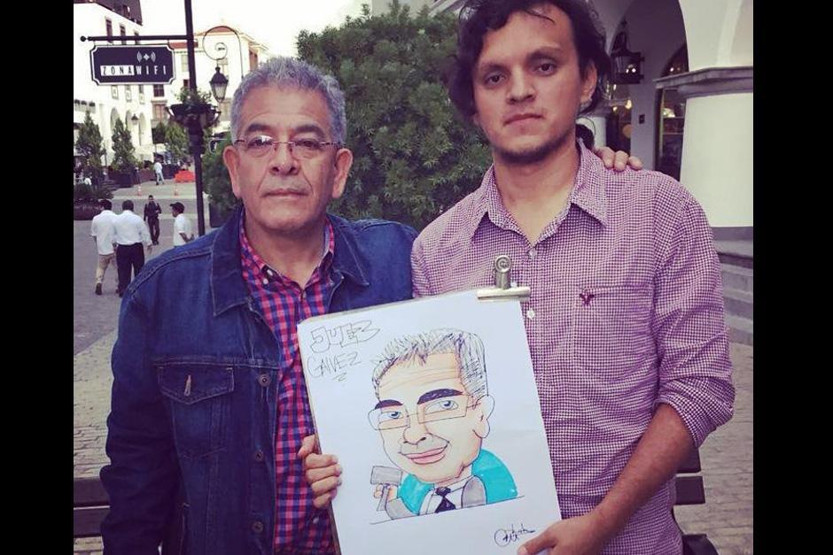 """El juez Miguel Ángel Gálvez se convirtió en un """"Rulotoon"""" más y mientras lo hacía contó que de joven también le gustaba dibujar"""