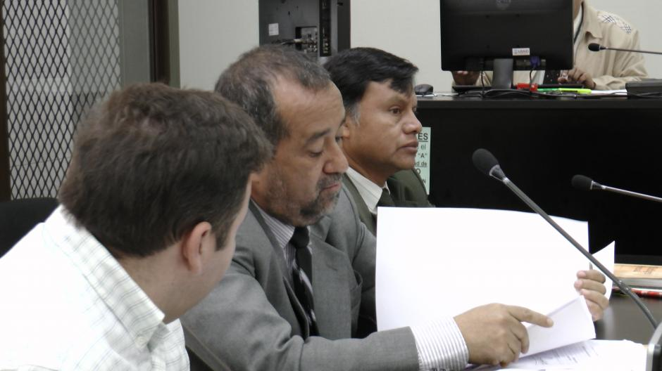 Barreda fue acompañado por su abogado.Foto Esteban Biba/Soy 502
