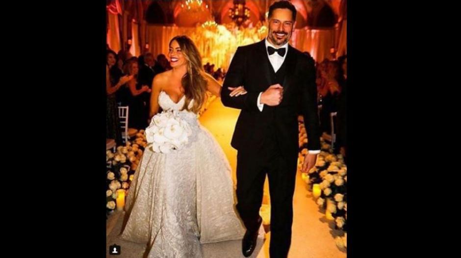 Sofía Vergara y Joe Manganiello tras dar el sí en su boda. (Foto: Instagram)