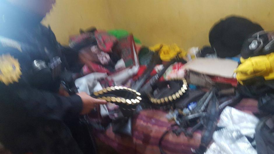 El allanamiento tuvo lugar en una vivienda de Chisec, Alta Verapaz. (Foto: Policía Nacional Civil (PNC)